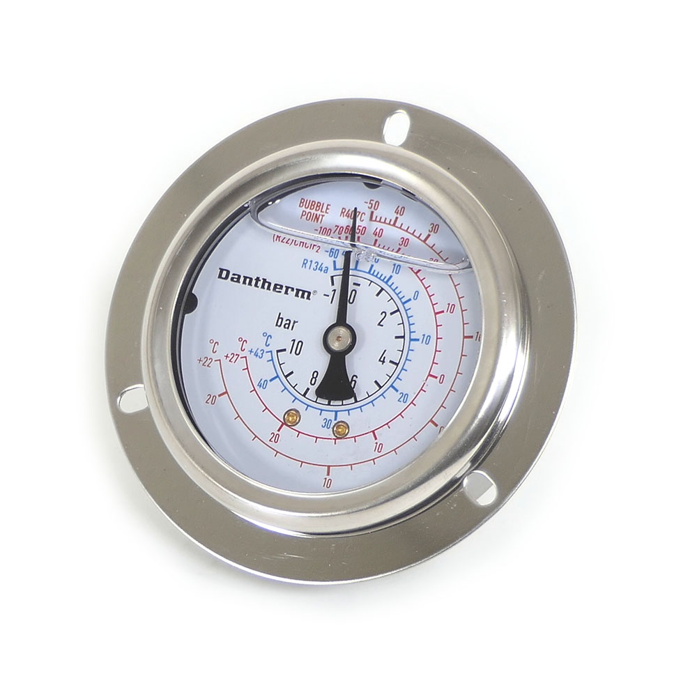 Low pressure manometer, ø63mm, with Dantherm logo
